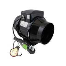 """Black Orchid Silent Hybrid-flo In-Line Extractor 10"""" (250mm)"""